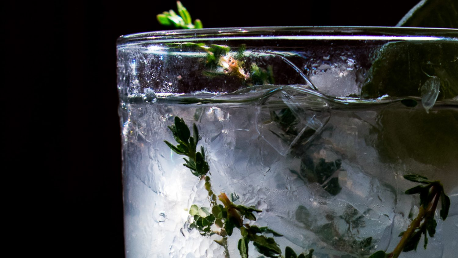 SUMMER THYME GIN AND SODA